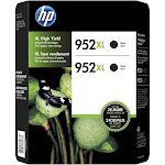 HP 952XL High Yield Ink Cartridge, Black, 2-Count