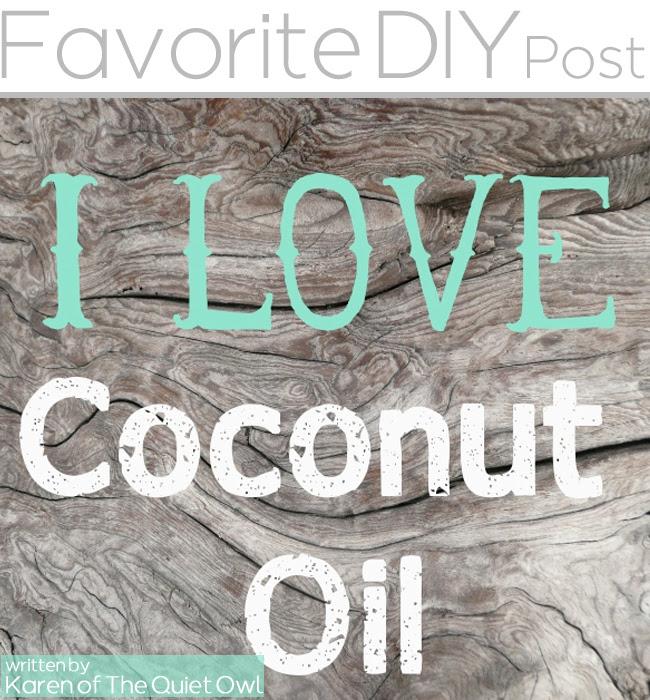 Favorite DIY coconut oil