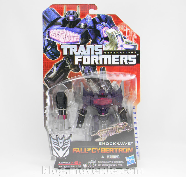 Transformers Shockwave Deluxe - Generations FoC - caja