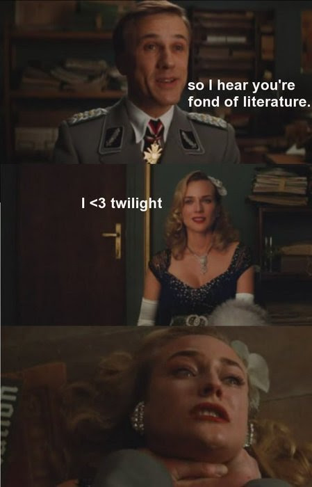 """Fond of literature?"" [click to enlarge]"