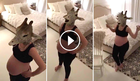 Pregnant Woman Hilariously Spoofs April the Giraffe's Live Video Feed