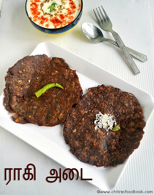 Ragi adai recipe - Sweet and spicy versions