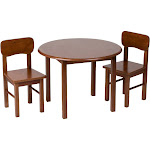 Gift Mark Natural Hardwood Round Honey Table and Chair Set