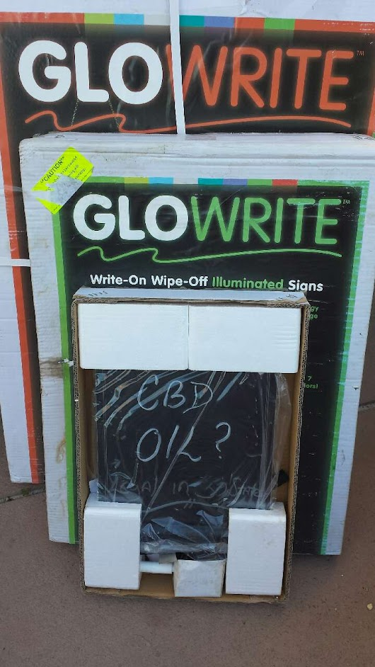 Used Once Glowrite Lighted Sign