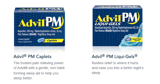 Advil Pm To Sleep Away The Aches - It's Peachy Keen