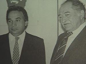 Com Miguel Arraes, Lyra negociou apoio ao nome de Tancredo para a eleição indireta para presidente da República (Foto: Reprodução / TV Globo)
