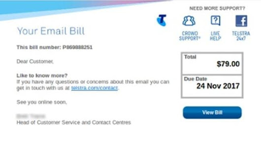 Don't fall for this fake Telstra e-mail scam