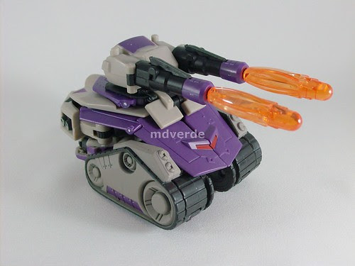 Transformers Blitzwing Animated Voyager - modo tanque