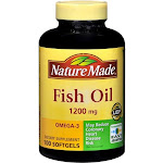 Nature Made Fish Oil 1200 mg, 360 mg Omega-3, Softgels, 100 Count