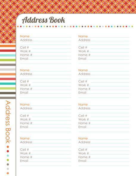 address book printable editable | Elf ideas | Pinterest | Book ...