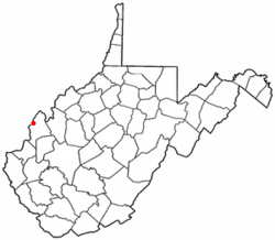 Location of Point Pleasant, West Virginia