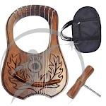 Harp lyre rosewood 10 metal strings Scottish thistle