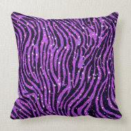 Glitter Zebra Pillow throwpillow