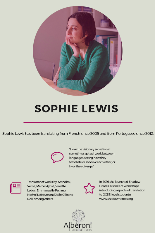 Greatest Women in Translation: Sophie Lewis
