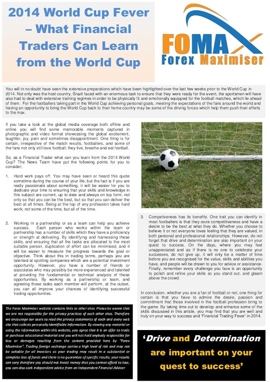 2014 World Cup Fever -  What Financial Traders Can Learn From Some O…