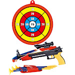 AZ Import PS0968 Archery Crossbow Bow & Arrow Toy Set with Target Toy Crossbow for Indoor & Outdoor Garden Fun Game