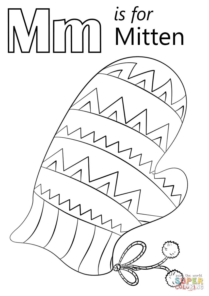 92 Coloring Pages Printable Letter M  Images