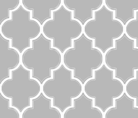 Grey and White Flourish