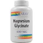 Solaray Magnesium Glycinate Vegetarian Capsules, 400 mg - 120 count
