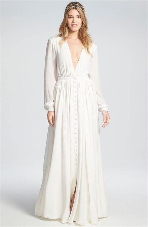 12 Wedding Dresses with Long Sleeves   Flowy wedding
