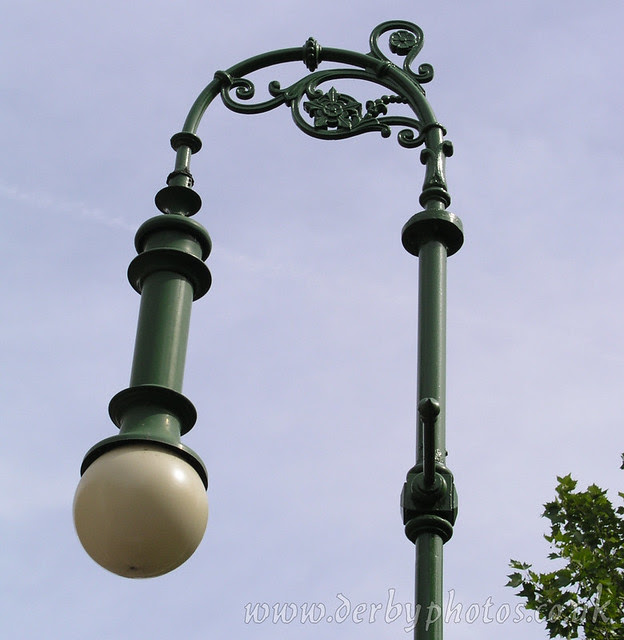 Handyside Lamp 3 of 4, Derby Cathedral Green
