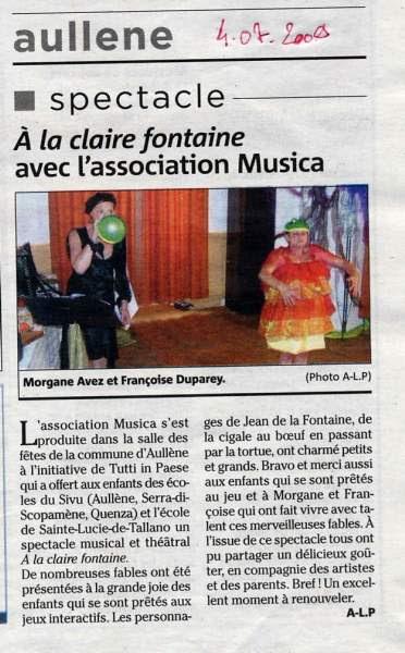 Fête Spectacle Association Musica