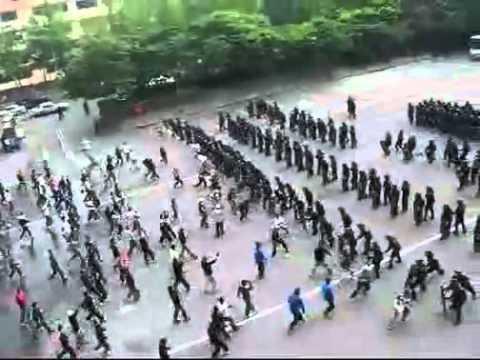 video que muestra los Entrenamientos de la Policia Koreana