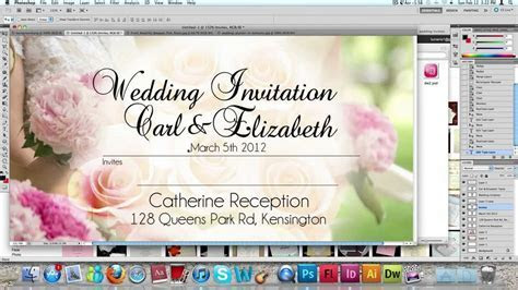 How to make a Wedding Invitation Card usng Photoshop   YouTube