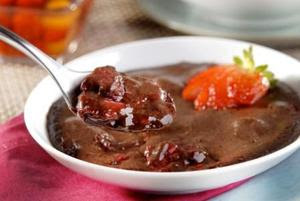 Receita de Tentação de Chocolate com Compota de Frutas Vermelhas