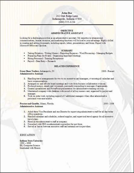 pasa: clerical assistant resume