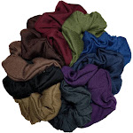Cotton Scrunchies (Dark Colors Assortment), 10 piece Pack