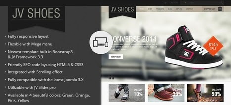 Shoes Responsive Joomla Template - JV