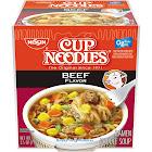 Nissin Cup Noodles, Beef, 2.5 oz Cup, 24/Carton