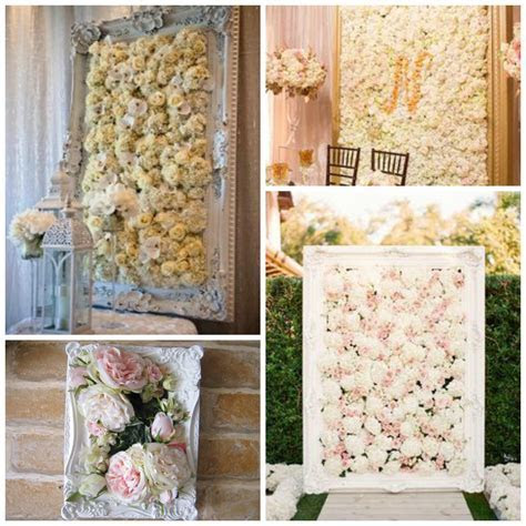 Flower Wall in a frame   the perfect wedding prop or home