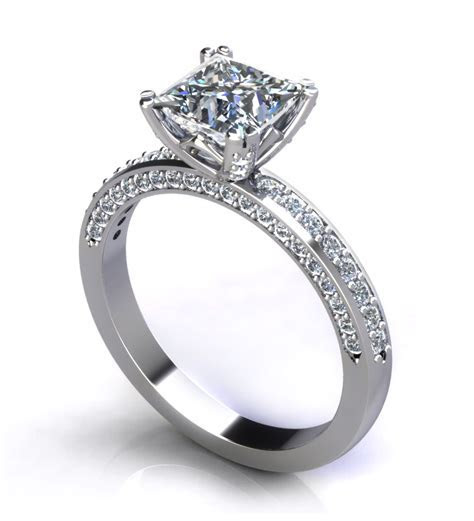 Princess Cut Engagement Rings   Jewelry Designs