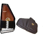Oscar Schmidt 15 Chord Autoharp w/ Gig Bag, Maple Body, Sunburst Finish, OS15B-AC445