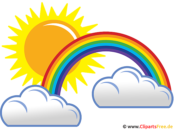regenbogen sonne und wolken wetter pics