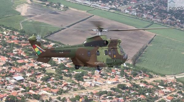 El segundo AS332 Super Puma FAB fue entregado en vuelo. (Foto: Leticia Torres / Airbus Helicópteros)
