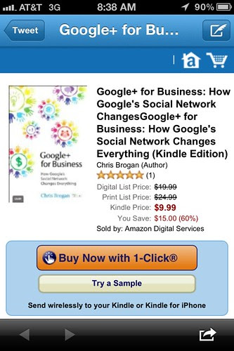 Google+ for Business by @ChrisBrogan is now available. Download the Kindle version. by stevegarfield