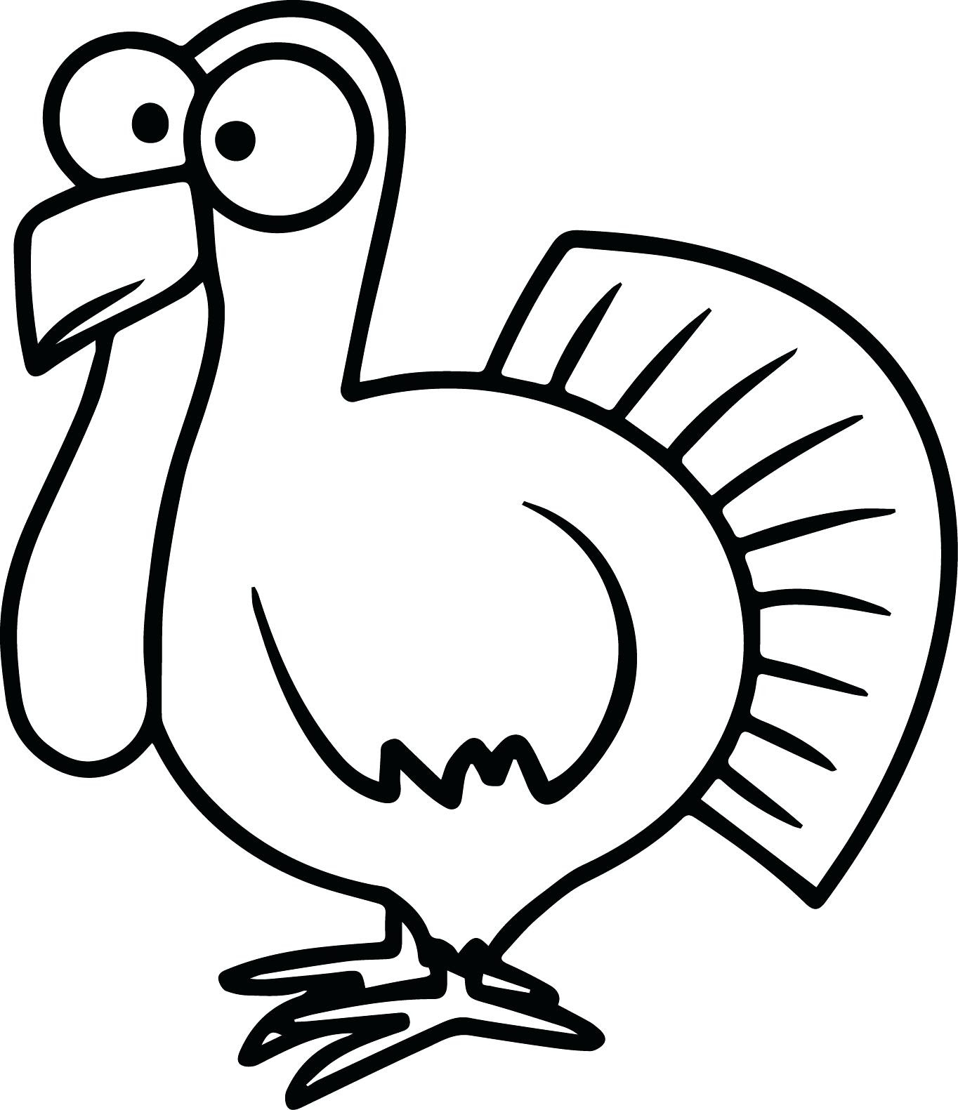 Free Turkey Clipart Black And White | Free download on ...