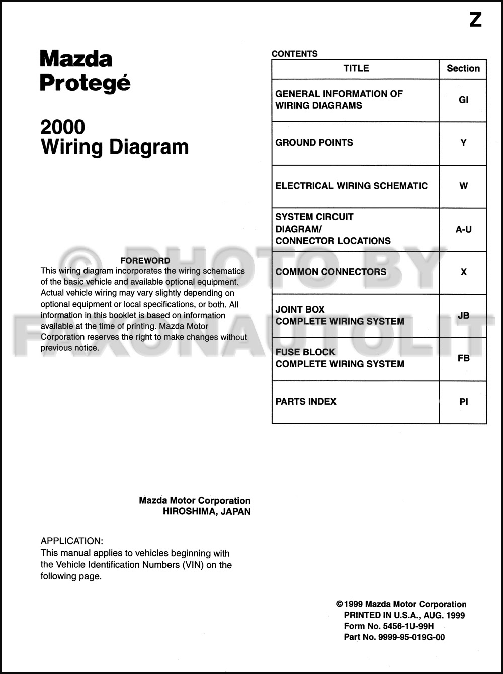 Diagram 1999 Mazda Protege Wiring Diagram Full Version Hd Quality Wiring Diagram Tawndiagram Radd Fr