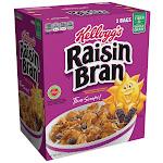 Kellogg's Raisin Bran Cereal, 38.25 oz, 2-count