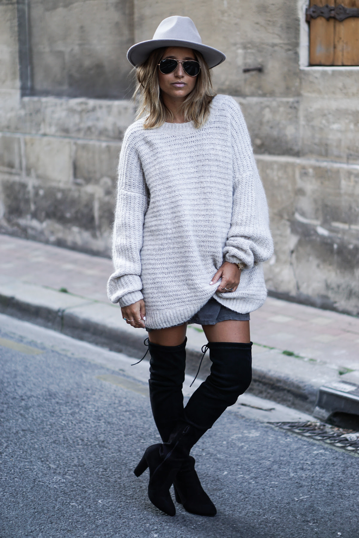 how to wear overtheknee boots in fall  just the design