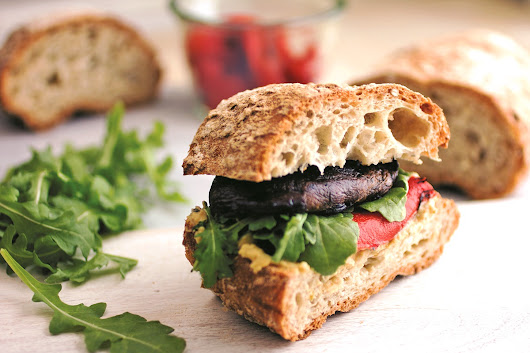 California Grilled Portobello Sandwich Recipe (Plant-Based)