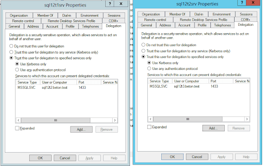 Setting up linked servers using Windows Authentication and how to solve multiple hop problem