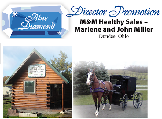 Director Promotion: M & M Healthy Sales-Marlene and John Miller