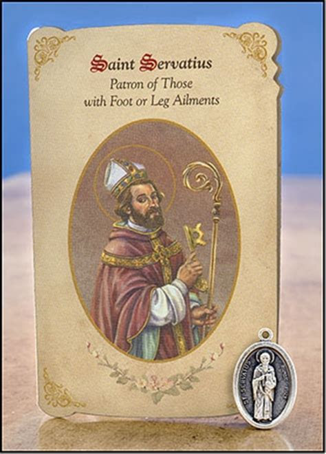 St Servatius (Foot & Leg Ailments) Healing Holy Card with