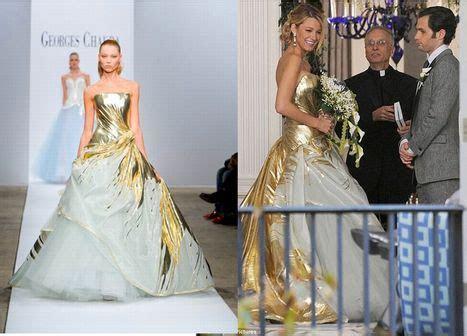Serena's wedding dress from Georges Chakra   Bridezilla