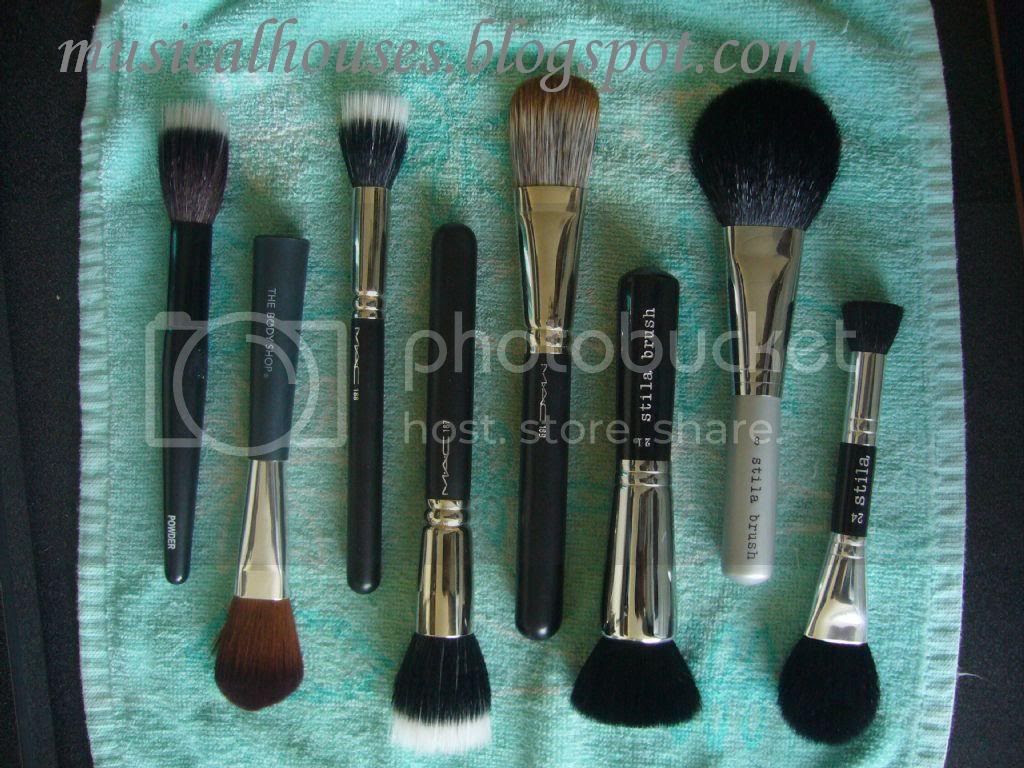 Flirt MAC Body Shop and Stila face brushes