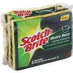 Scotch Brite Scrub Sponges, Heavy Duty - 6 pack